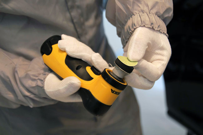 Mirka AOS-B 32mm sander -  Mirka's cordless sander hits the spot